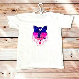 New Sailormoon Silhouette Graphic T-Shirt